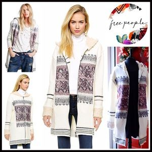 Free People Sweaters - FREE PEOPLE Long Cardigan Hooded Cardi Coat