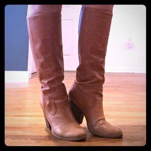 Nine West Tan High Boots