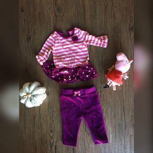 Circo Other - Baby 6 - 9 m // magenta shirt & velour pant bundle