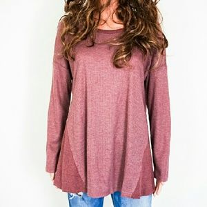 Tops - Wine Colored Knit Top