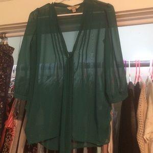 Sheer green Decree blouse