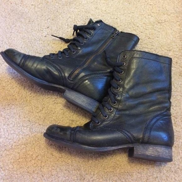 81 steve madden shoes steve madden black leather
