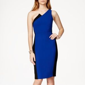 BCBGeneration Dresses & Skirts - BCBGeneration Blue & Black One Shoulder Dress