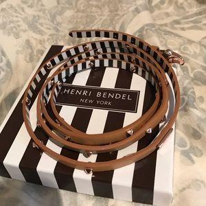 Henri Bendel wrap around tan leather bracelet