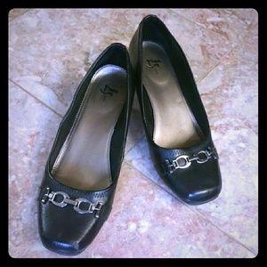 Life Stride Shoes - Black Dress Shoes
