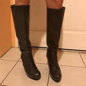 Ash Shoes - Dark brown ASH over the knee leather boots