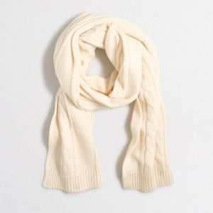 J. Crew Factory Cable Knit Scarf