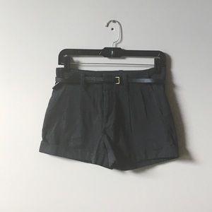 Bullhead black belted trouser shorts
