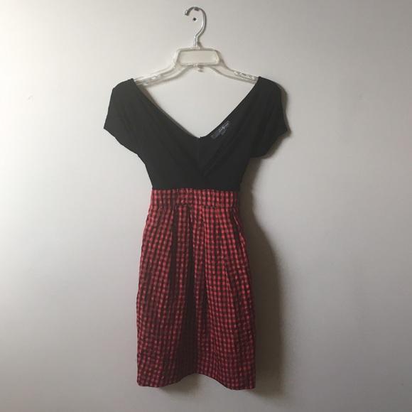 Gingham plaid  dress