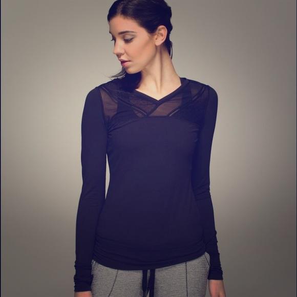 305c81b53c7fc3 lululemon athletica Tops | Lululemon Mesh Long Sleeve Top | Poshmark