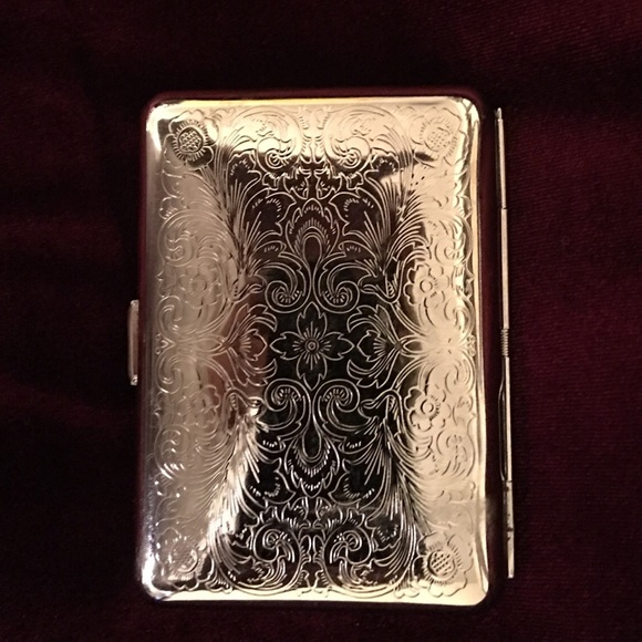White house black market accessories whbm silver scroll business whbm silver scroll business card holder colourmoves