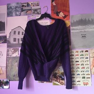 Vintage Oversized Purple Sweater
