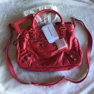 Balenciaga giant 12 rose golden town bag