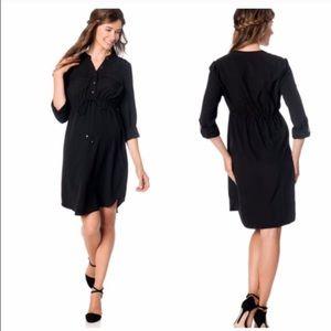 Silk shirtdress ~ maternity