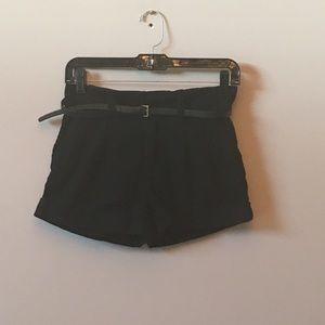 Bullhead black trouser shorts