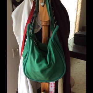 Aimee Kestenberg green pebbled leather bag NWOT
