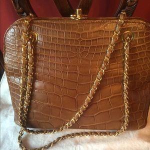 Authentic CHANEL genuine croc bag.