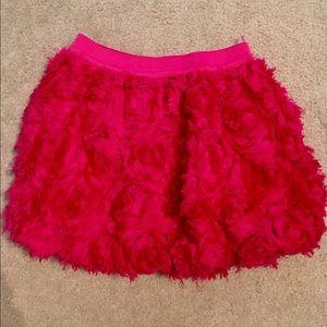 Children's Place Maroon Flower Skirt