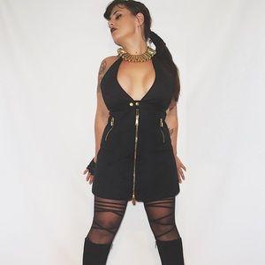 DSQUARED Dresses & Skirts - DSQUARED 2 BLACK HALTER ZIP DRESS IT 44  US 8 MED