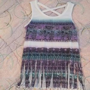 Beautees Other - Girls Tank with Sparkly Elephants