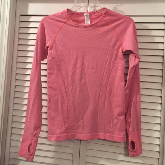 42aff447 Ivivva Shirts & Tops   Fly Tech Long Sleeve Pink Peach Running Top ...