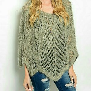 Tops - Poncho sweater. 1 Left!