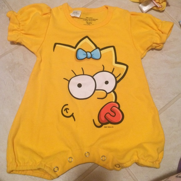 One Pieces Maggie Simpson 12 Month Onesie Poshmark