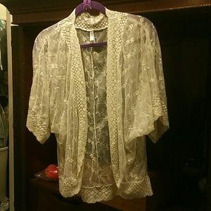 Beautiful cream lace cardigan