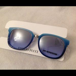 Emilio Pucci Accessories - Emilio Pucci Sunglasses 0568 Light Blue Italy