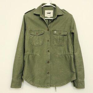 Obey Jackets & Blazers - Obey Drawstring Waist Longsleeve Shirt