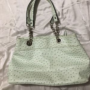 Light mint green ostrich leather Kelly&Katie purse