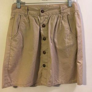 Old Navy above knee lightweight khaki skirt