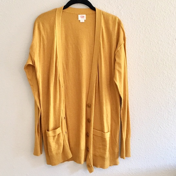 Mossimo Supply Co Sweaters Mustard Yellow Button Up Cardigan