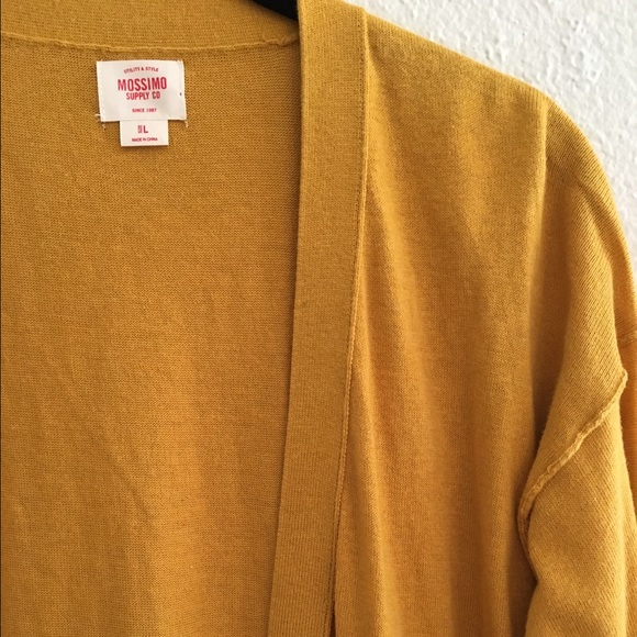 45% off Mossimo Supply Co. Sweaters - Mustard yellow button up ...