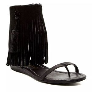Very Volatile Shoes - Very Volatile Sweet Fringe Sandal Black Sz. 7