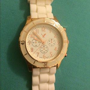 American Eagle white watch.