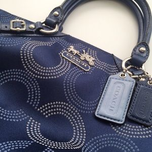 Coach Madison Dotted Op Art Sophia Satchel