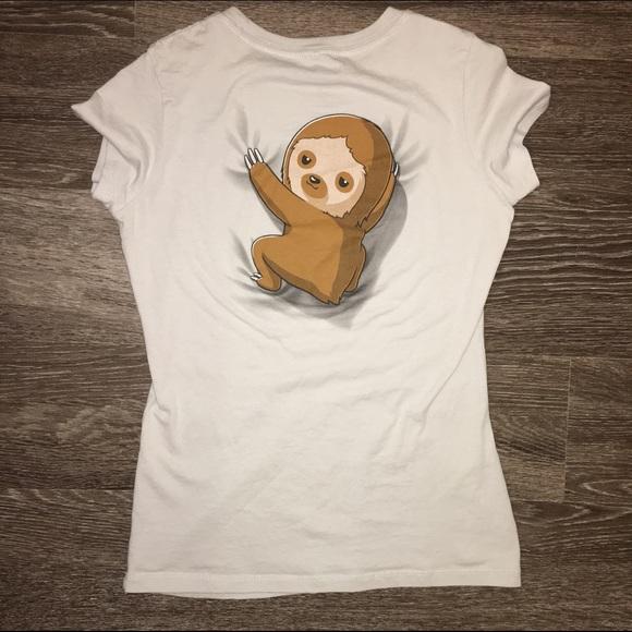 6cc97bfaa teeturtle Tops | Sloth On Your Back Tshirt | Poshmark