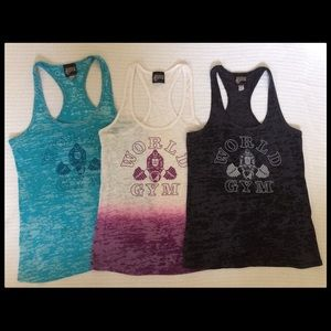 29386f2a9cf28 world gym Tops - Three World Gym Muscle Tank Tops sz S