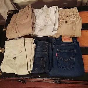 BUNDLE6 PAIR Boys Sz 10 Pants