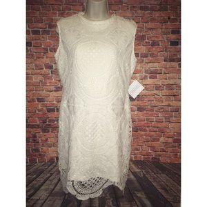 Stella Luce Cream Crochet Dress-NWT