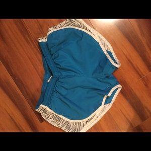 Pants - Blue zebra shorts