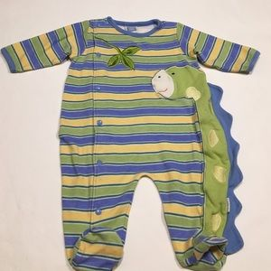 Little Me Other - Little me dinosaur footie Size 3 months