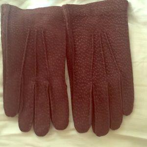 Loro Piana Accessories - Loro Piana peccary gloves