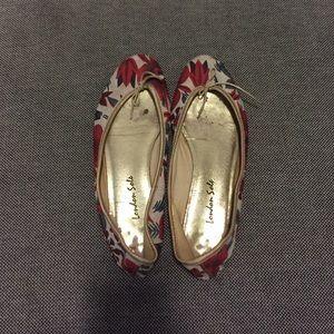 London Sole Shoes - London Sole floral ballet flats.