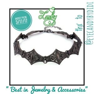 Jewelry - 🎉HP🎉Vtg. Style Embossed Floral Geometric Choker