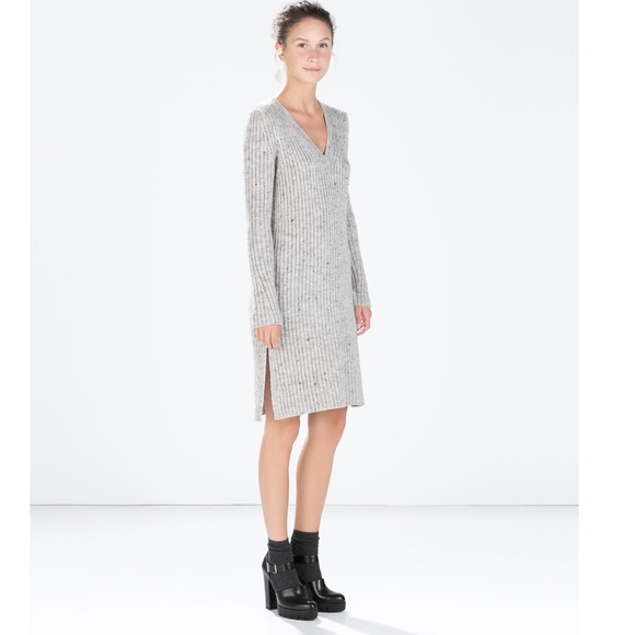 Zara Grey Sweater Dress 103