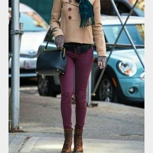Pants - Plum 5 Pocket Jeggings