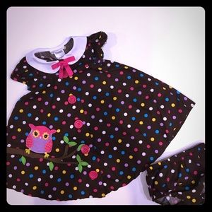Bonnie Jean Other - Bonnie Jean brown owl polka dotted dress