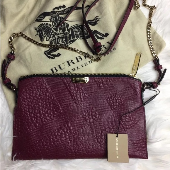 ☀️HP☀️NWT Burberry leather cross body bag 26d6da51c3d57